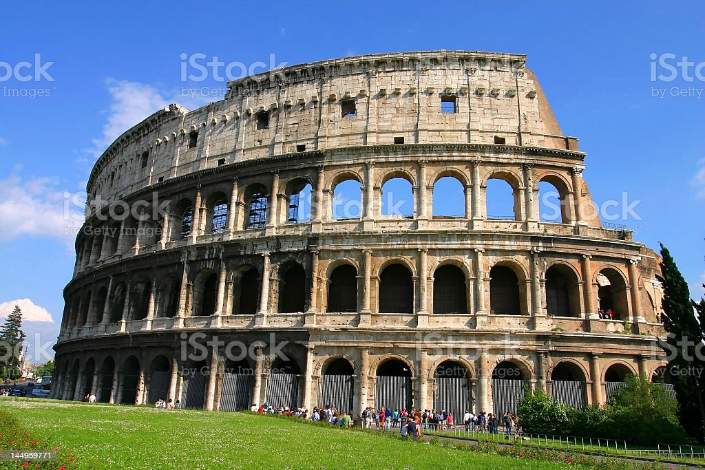 Colosseum at rome italy royalty-free stock photo