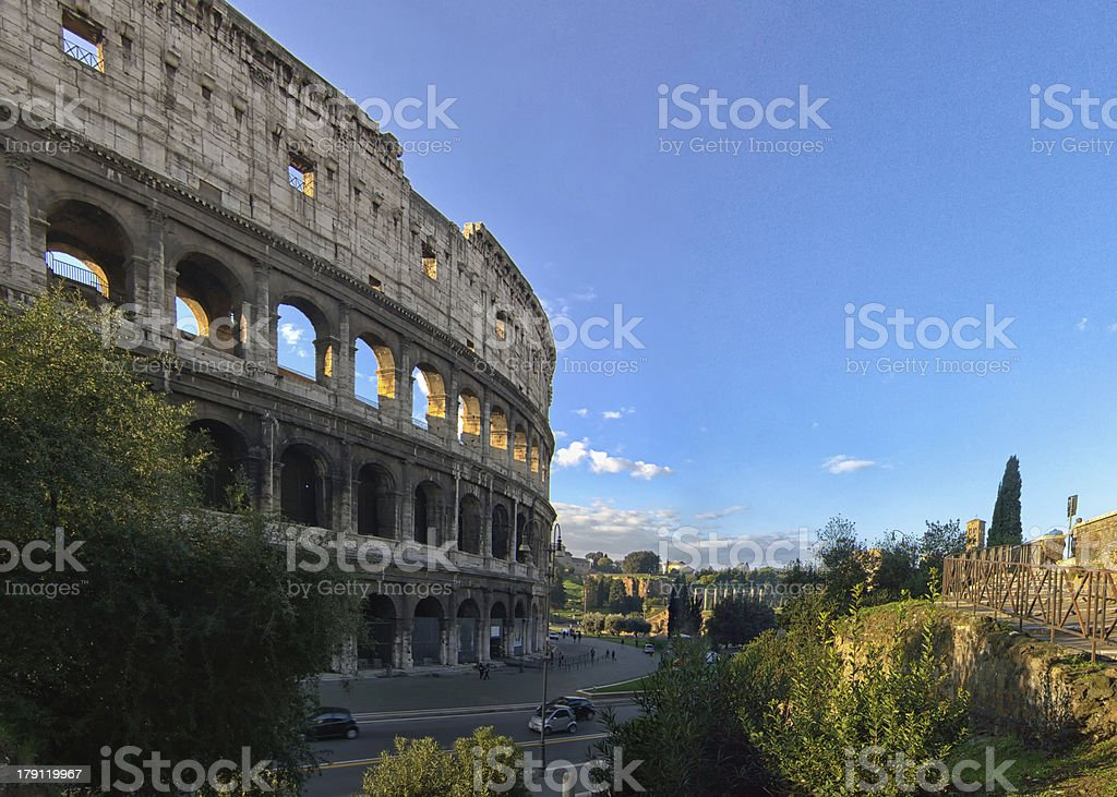 Colosseum by morning royalty-free stock photo