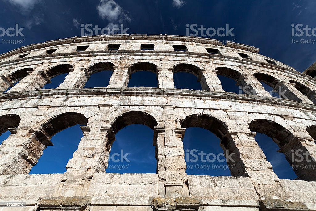 Colosseum Detail royalty-free stock photo