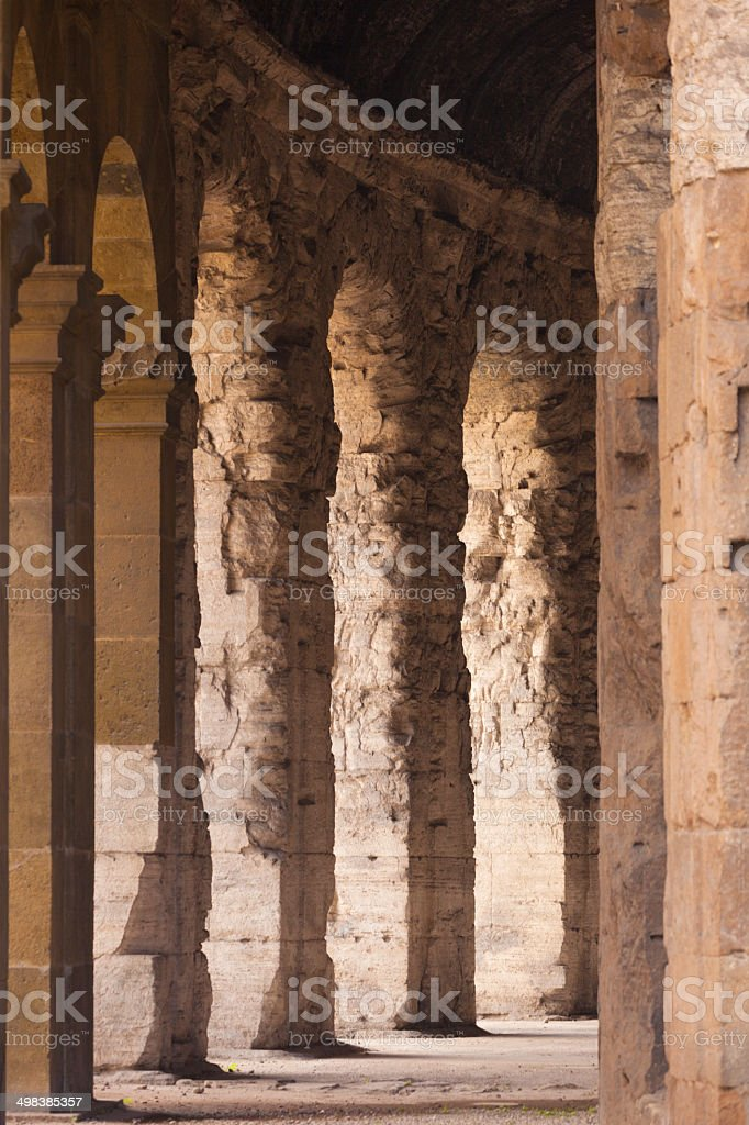 Colosseum detail stock photo
