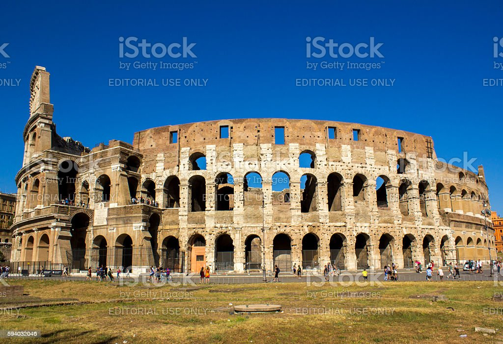 Colosseum in Rome in day time stock photo