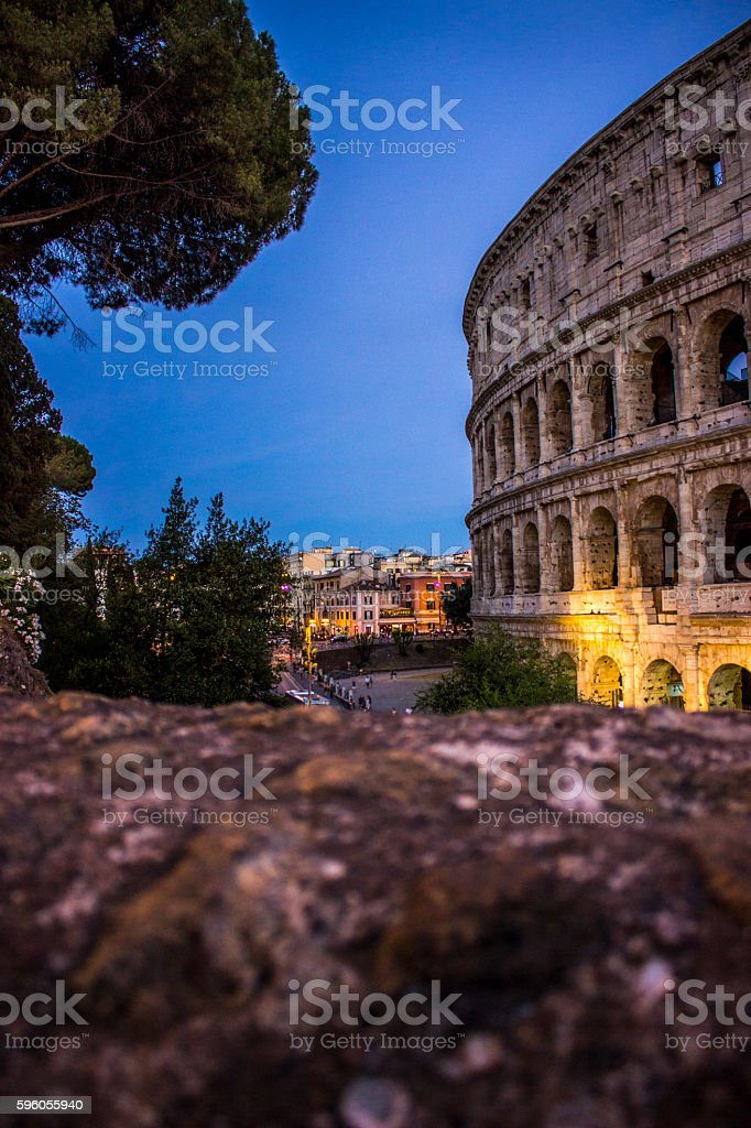 Colosseum in Rome; Italy stock photo