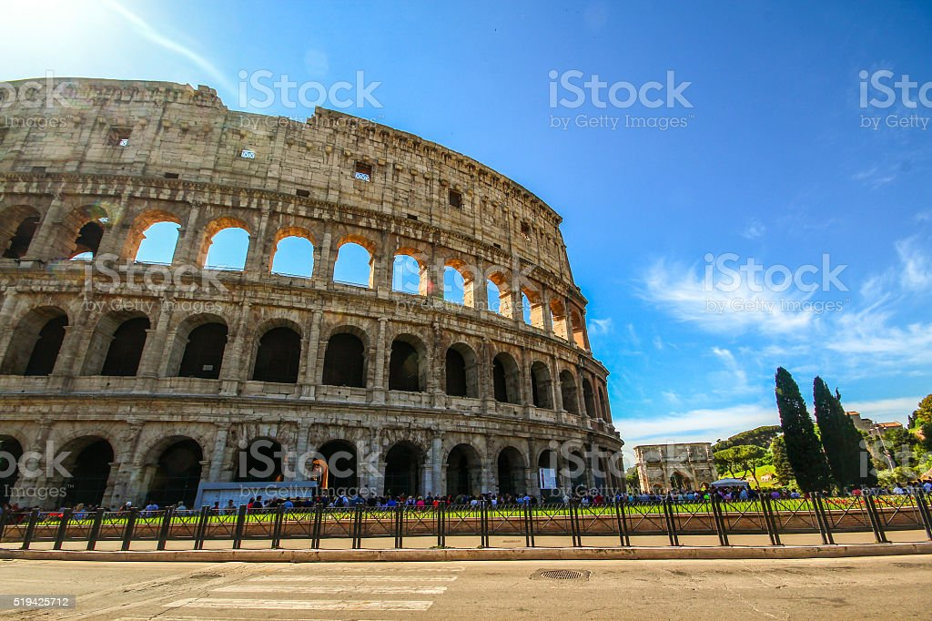 Colosseum in Rome, South Italy stock photo
