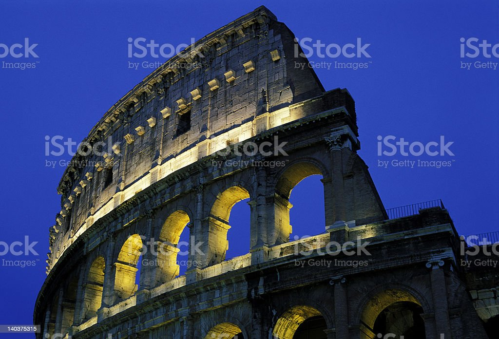 Colosseum in the night 2 royalty-free stock photo