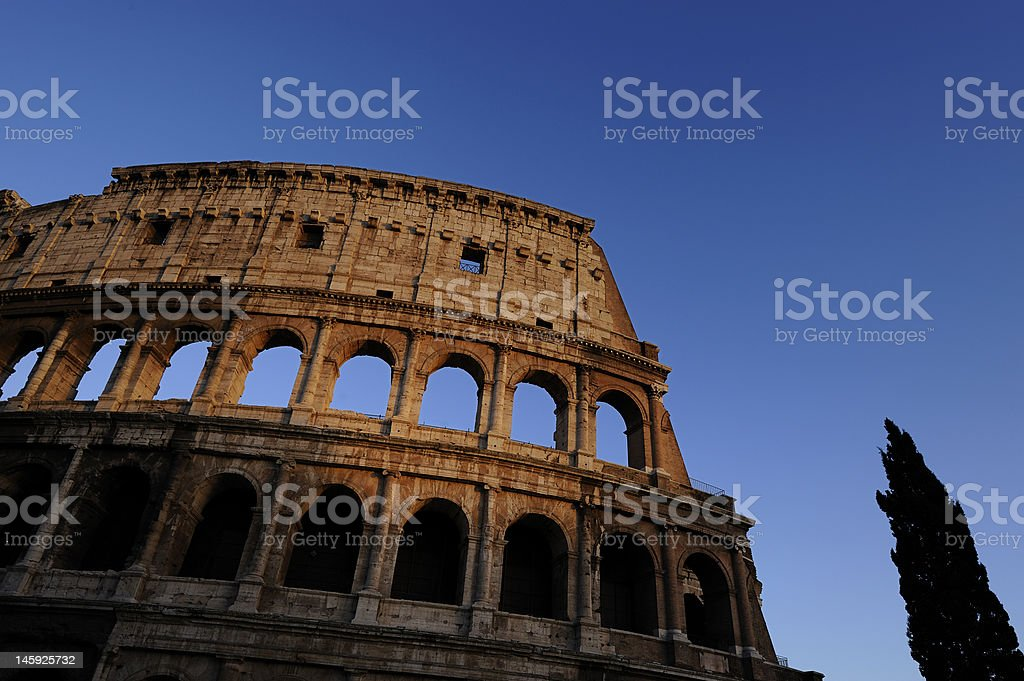 Colosseum in the sunset light royalty-free stock photo