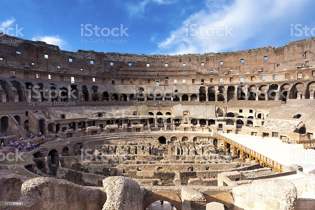Colosseum inside view royalty-free stock photo