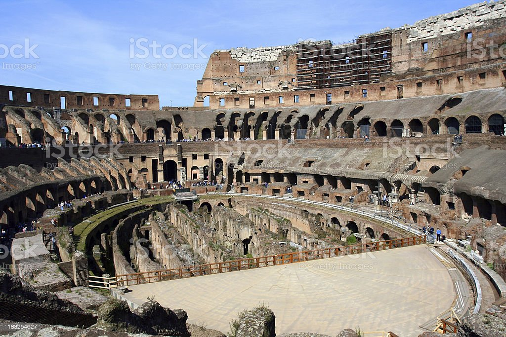 Colosseum interior royalty-free stock photo