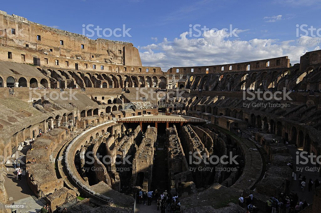 Colosseum interiors royalty-free stock photo