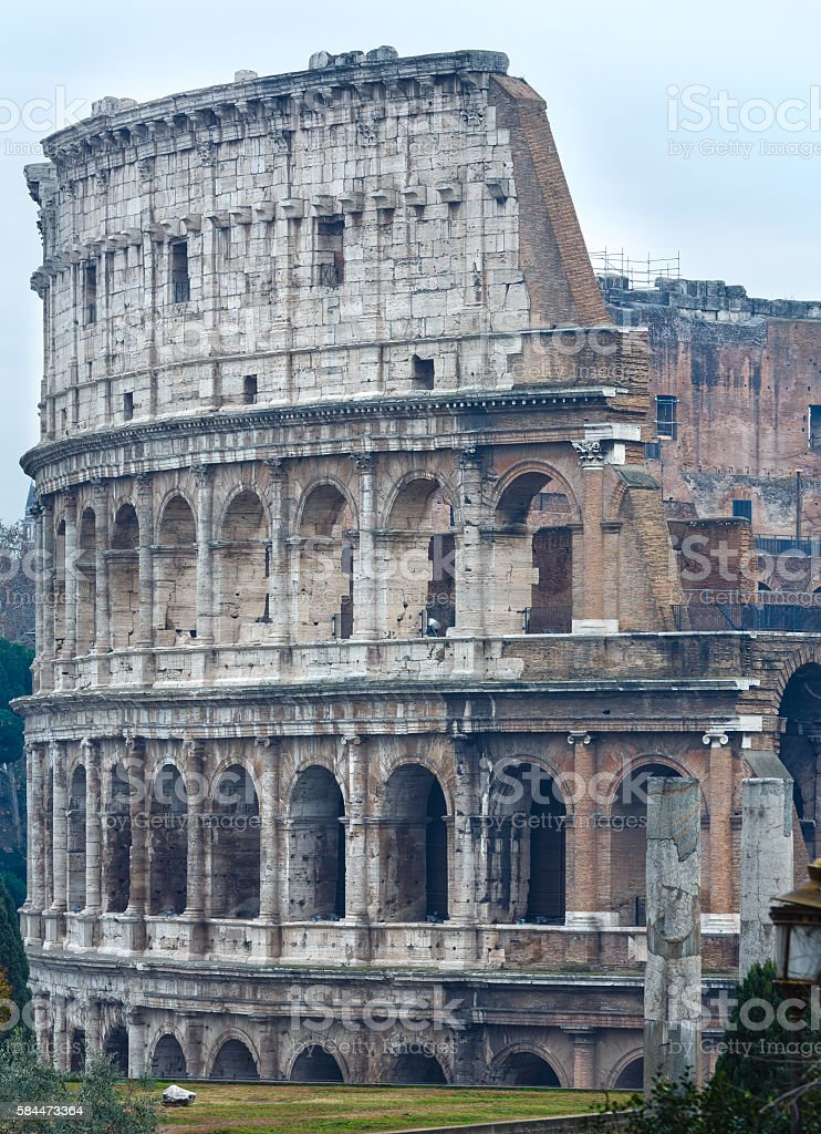 Colosseum morning view, Rome. stock photo