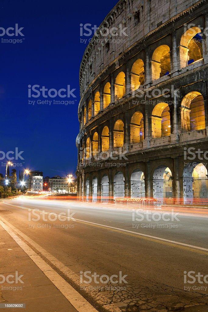 colosseum night royalty-free stock photo