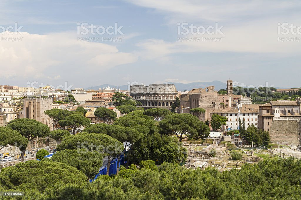 Colosseum of Rome, Italy royalty-free stock photo