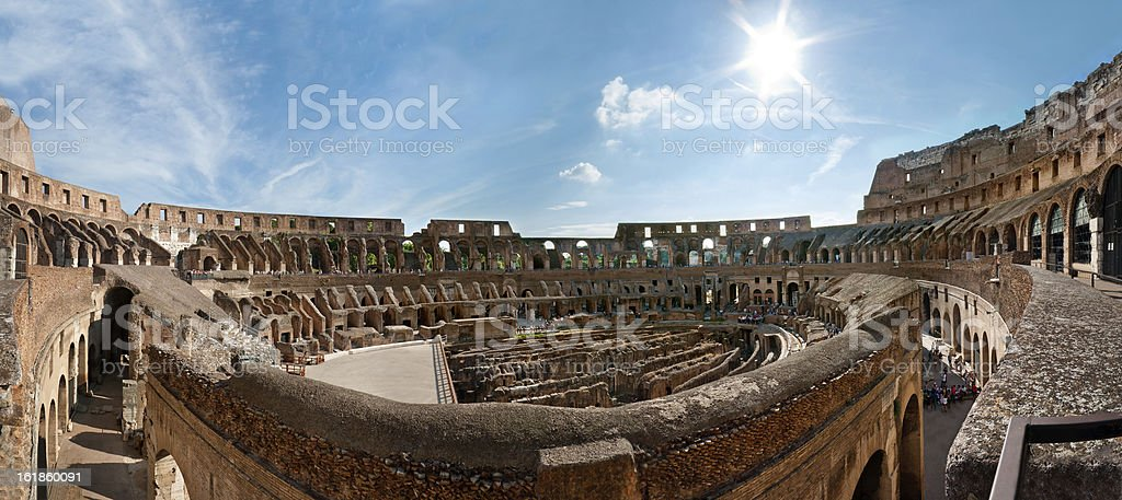 Colosseum panorama royalty-free stock photo
