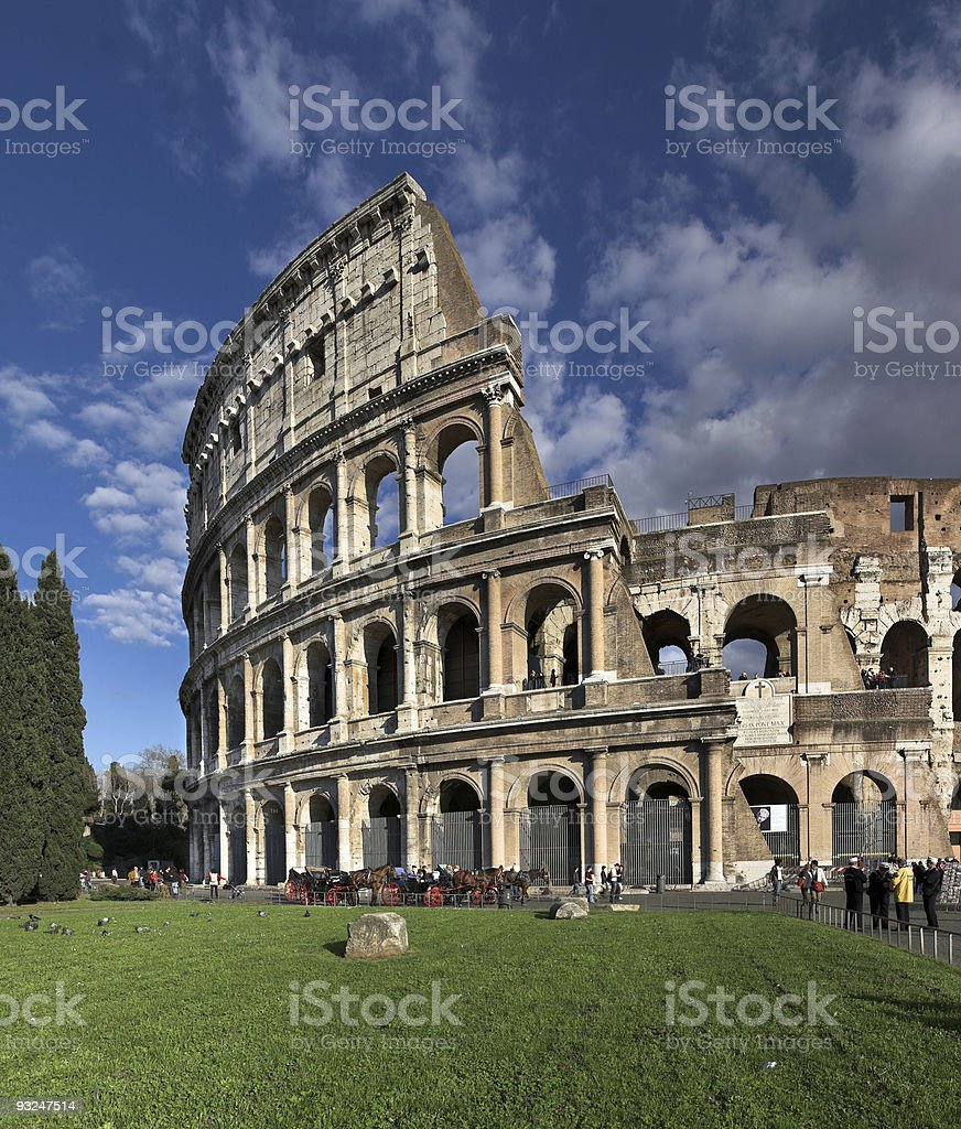 Colosseum, Roma, Italy royalty-free stock photo