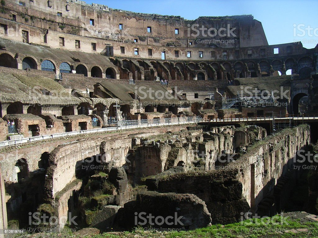 Colosseum Rome - inside stock photo