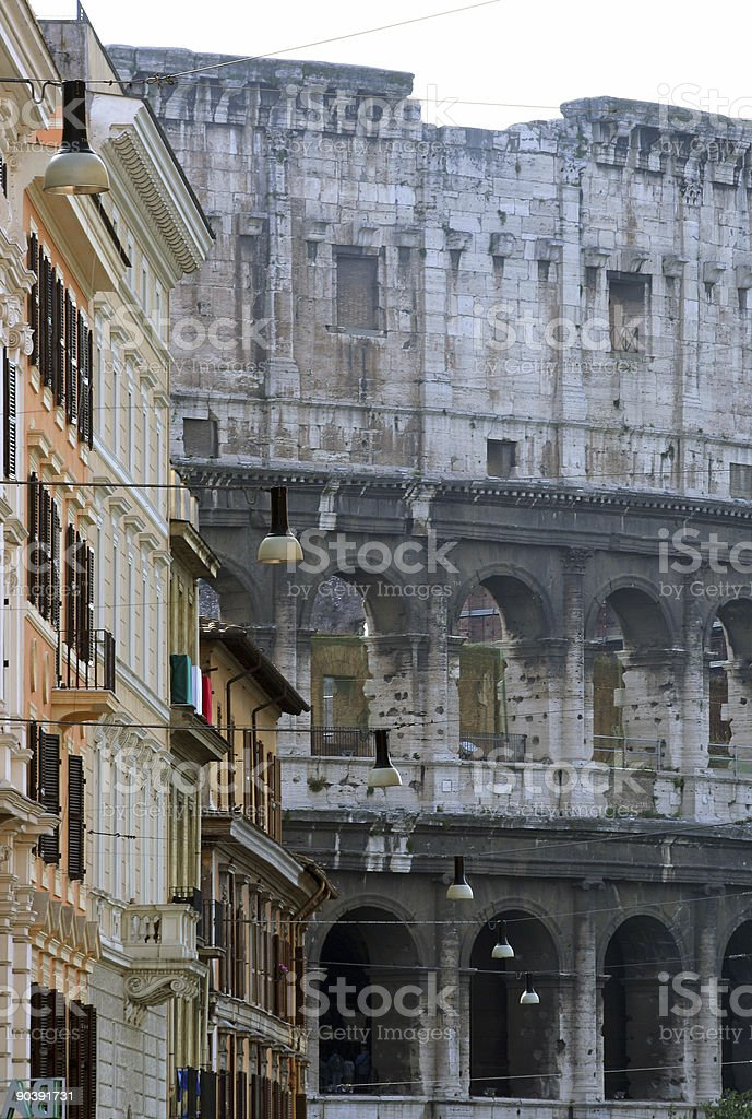 Colosseum seen from a different angle royalty-free stock photo