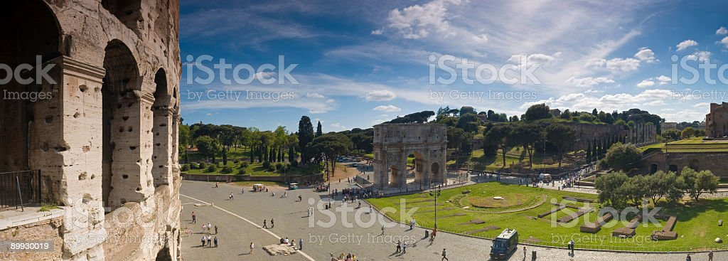 Piazza del Colosseo, Rome royalty-free stock photo