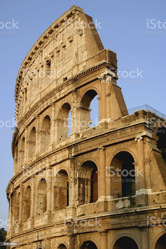 Colosseum, sunset royalty-free stock photo