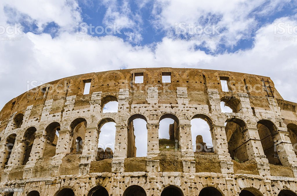 Colosseum the most well-known and remarkable landmark of Rome an royalty-free stock photo