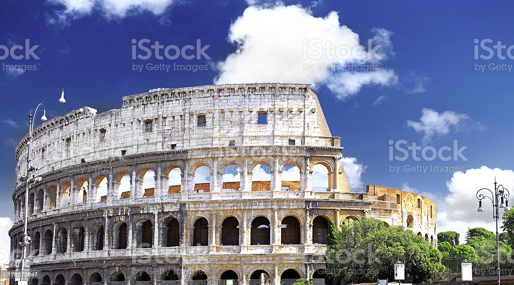 Colosseum, the world famous landmark in Rome. royalty-free stock photo