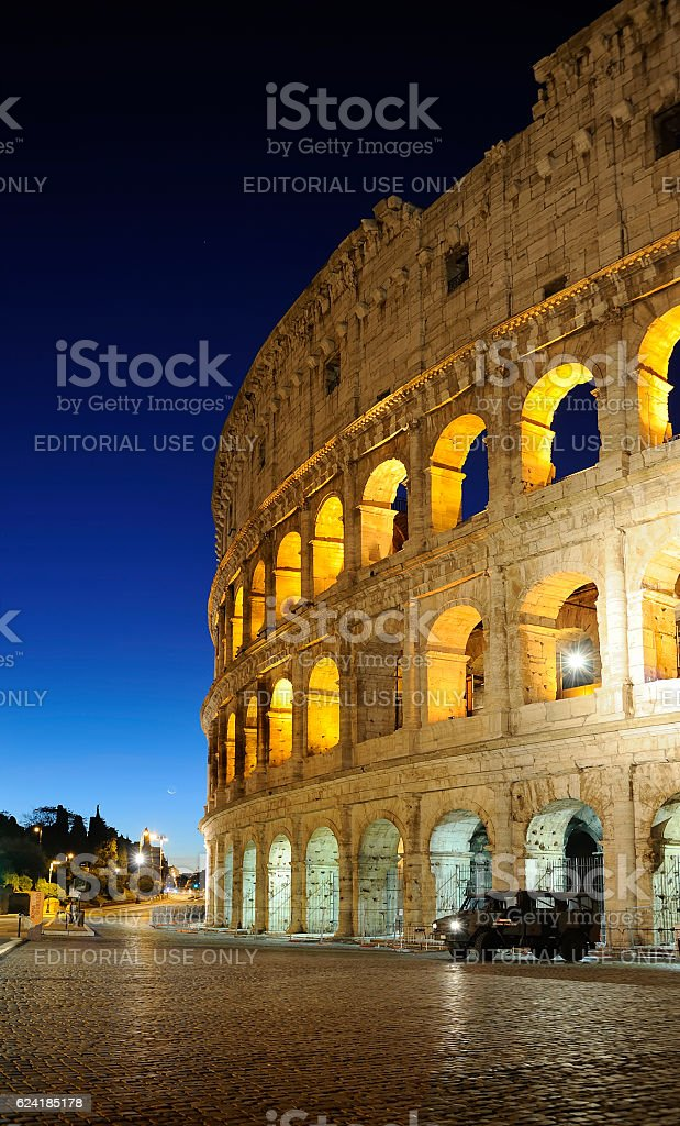 Colosseum Under Guard stock photo