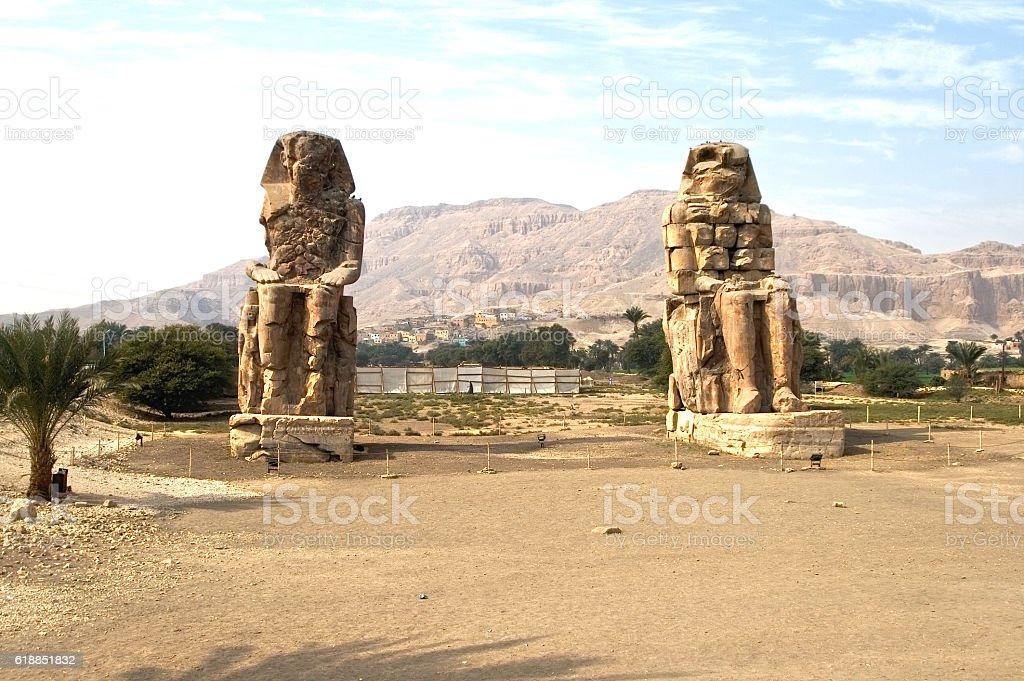 Colossi of Memnon, Egypt stock photo