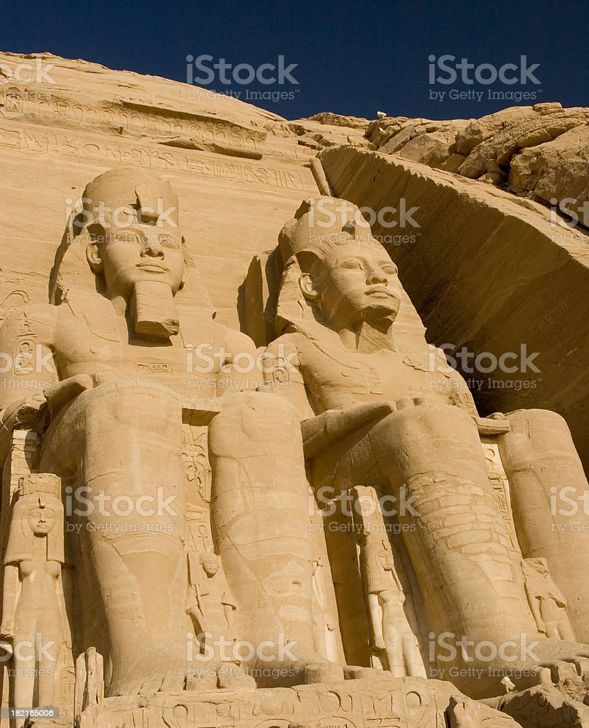 Colossi of Ramses II royalty-free stock photo