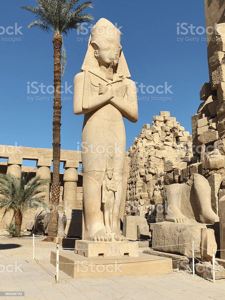 Colossus of Ramesses II, Karnak Temple, Luxor Egypt stock photo