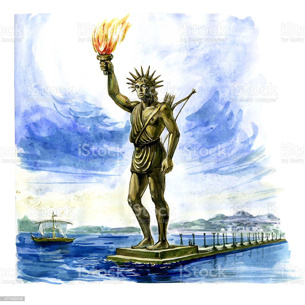 Colossus of Rhodes stock photo