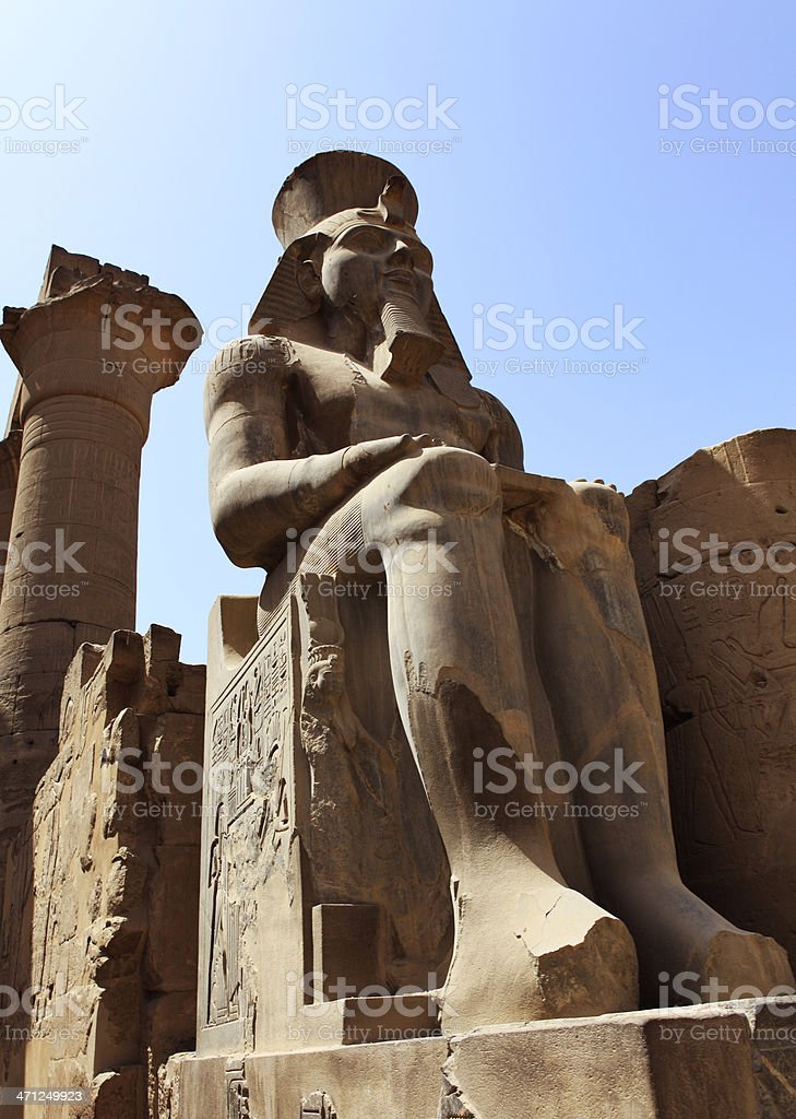Colossus statue of Ramesses II royalty-free stock photo