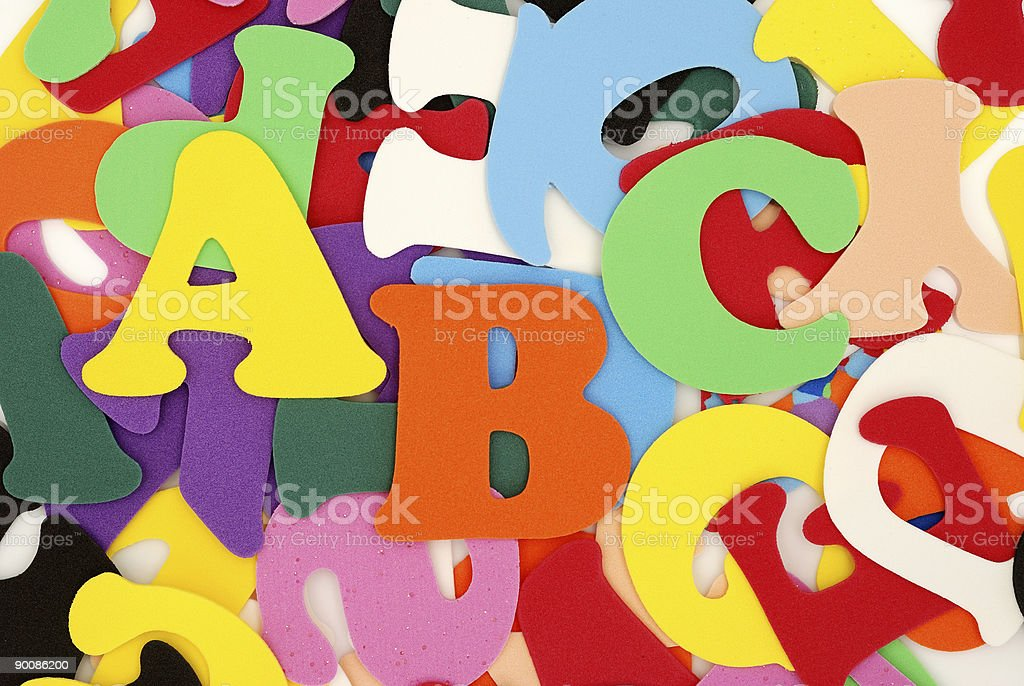 Colour A, B, C on  background from letters royalty-free stock photo