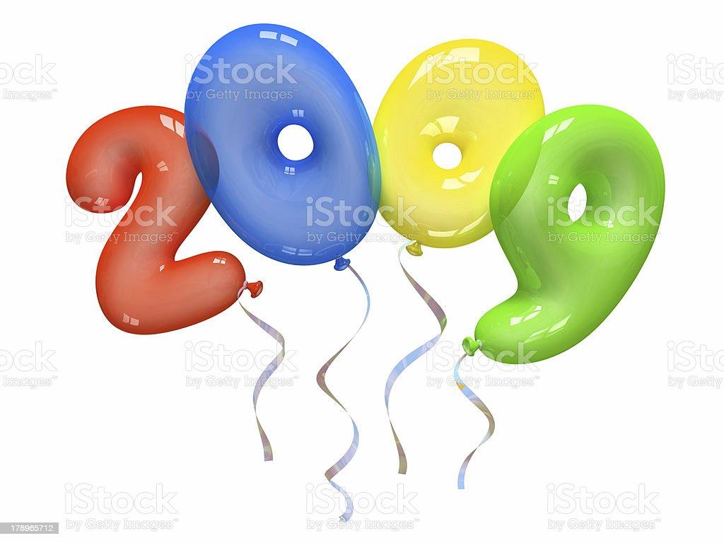 Colour air balloons 2009 royalty-free stock photo