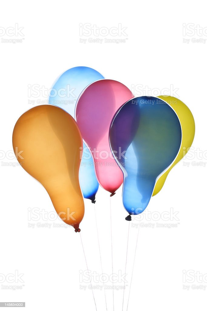 Colour balloons royalty-free stock photo
