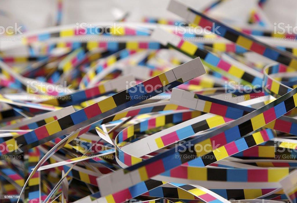 Colour Bar Off Cuts... stock photo