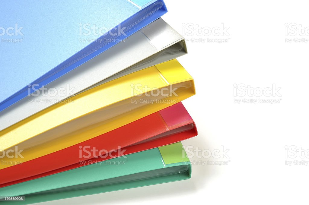 Colour business file folders royalty-free stock photo