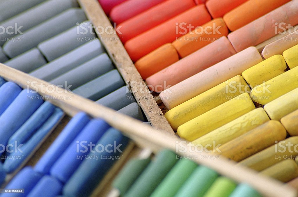 Colour chalks stock photo