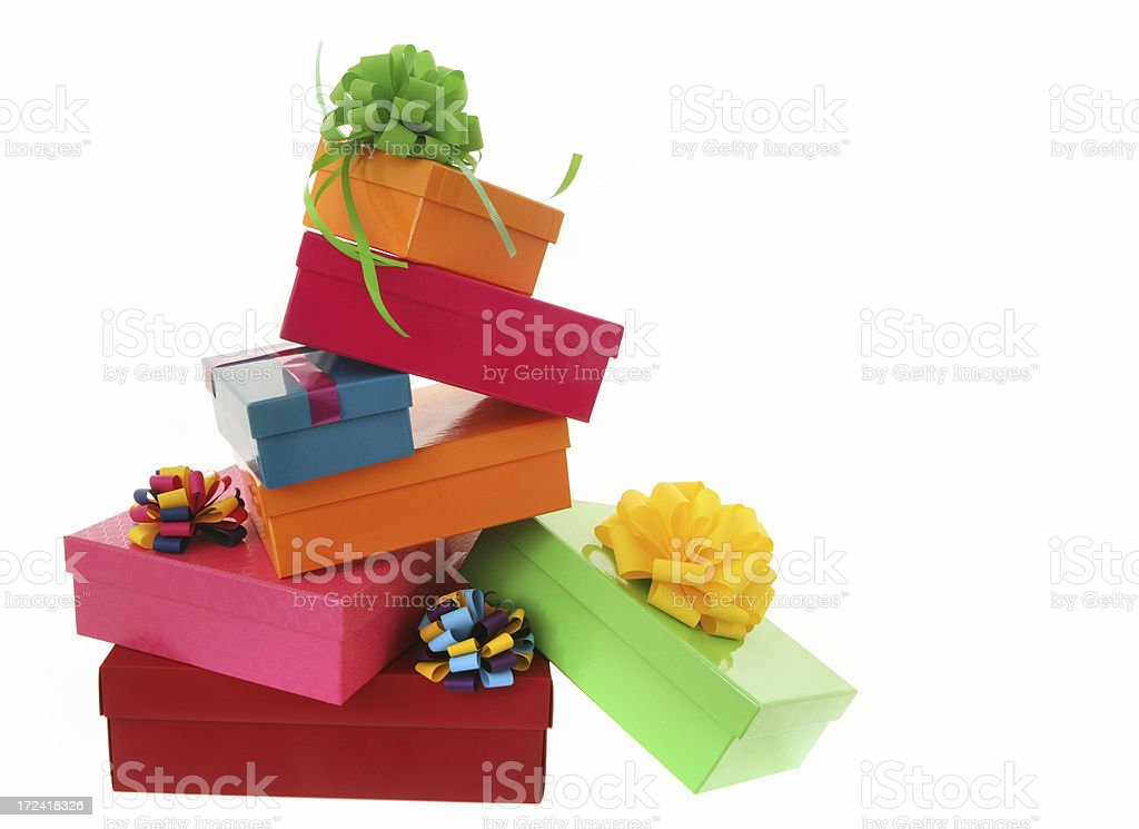 Colour Coordinated Gifts royalty-free stock photo