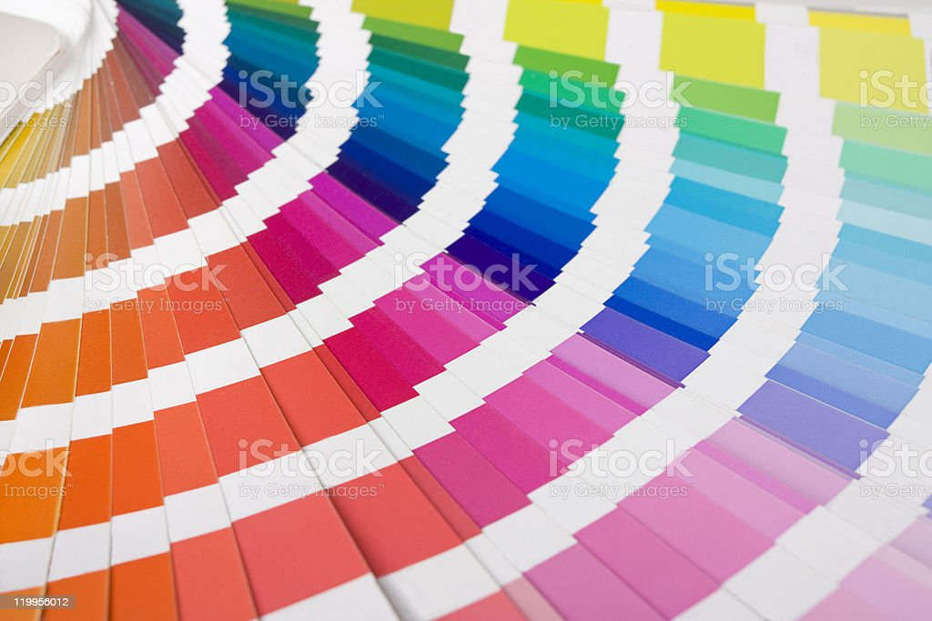 colour designer swatches stock photo