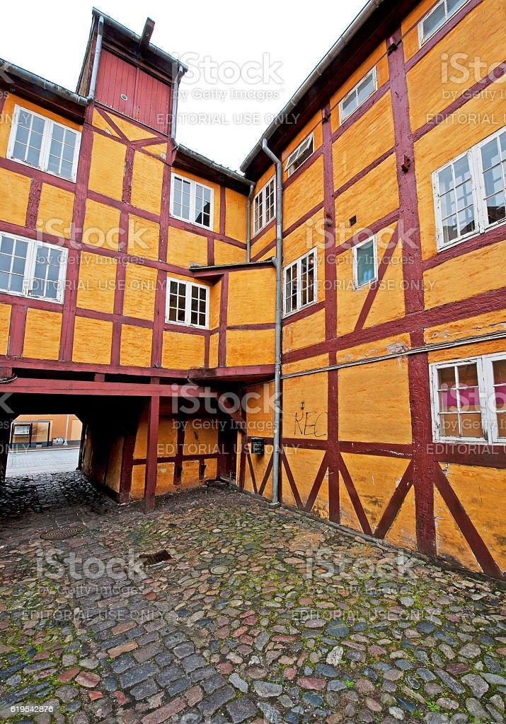 Colour grid, Aalborg, Denmark stock photo