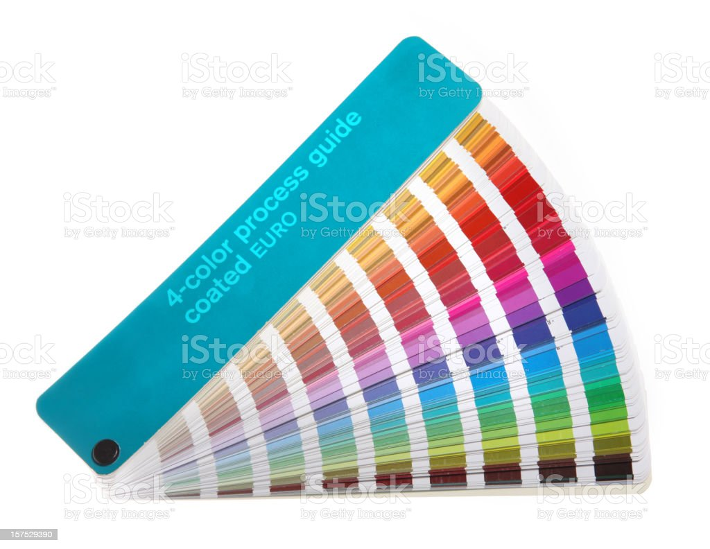 Colour guide - pantone swatch book on white royalty-free stock photo