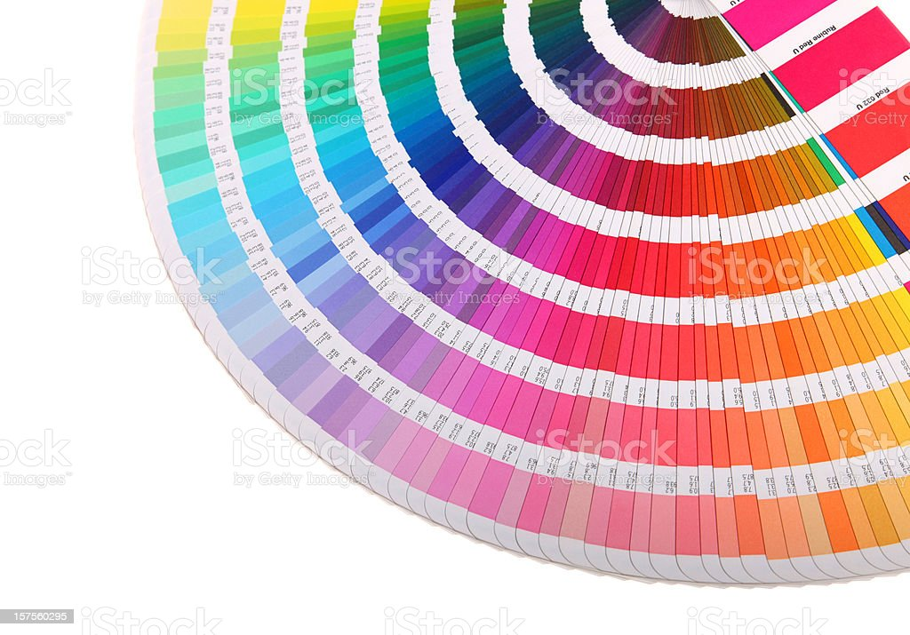 Colour guide - pantone swatch book on white royalty-free stock vector art
