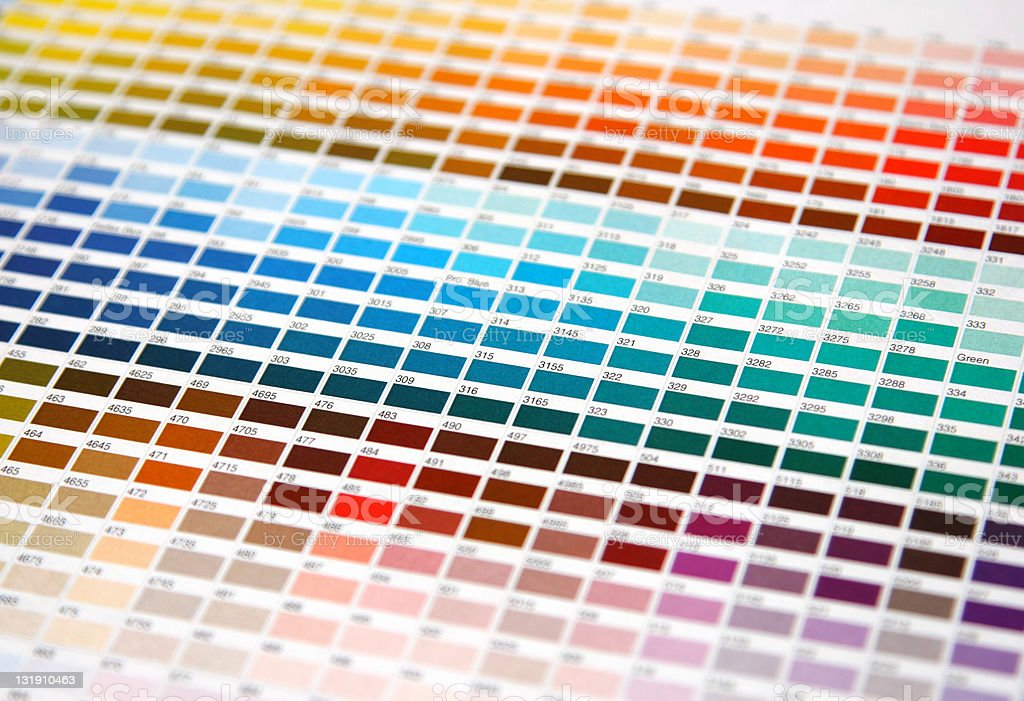 Colour guide royalty-free stock photo