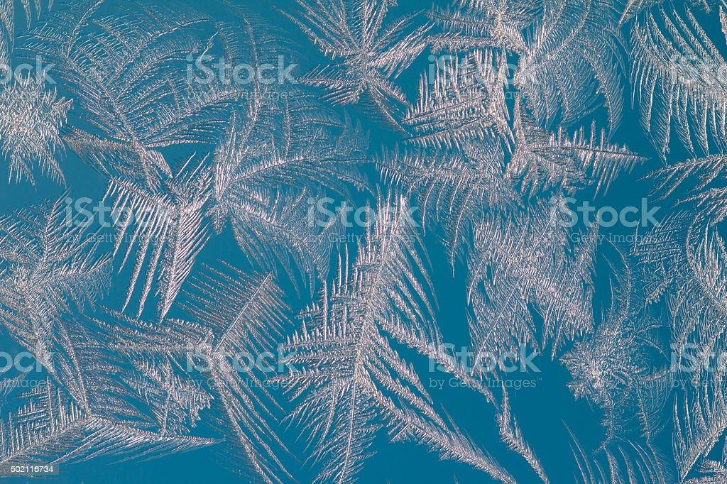 Colour ice pattern stock photo
