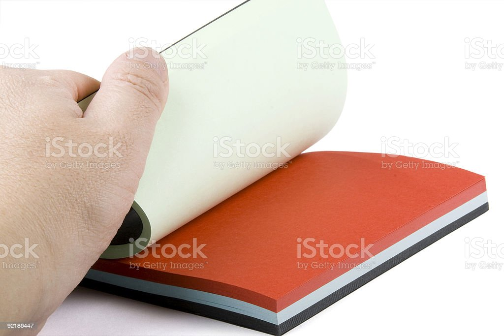 colour notebook royalty-free stock photo