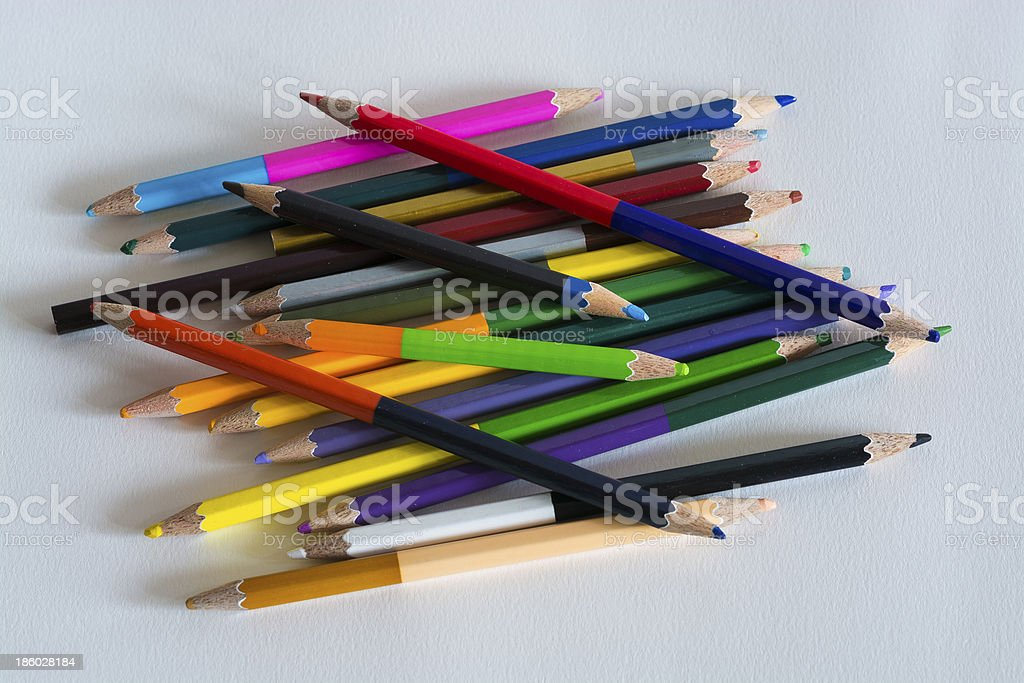 colour pencil royalty-free stock photo