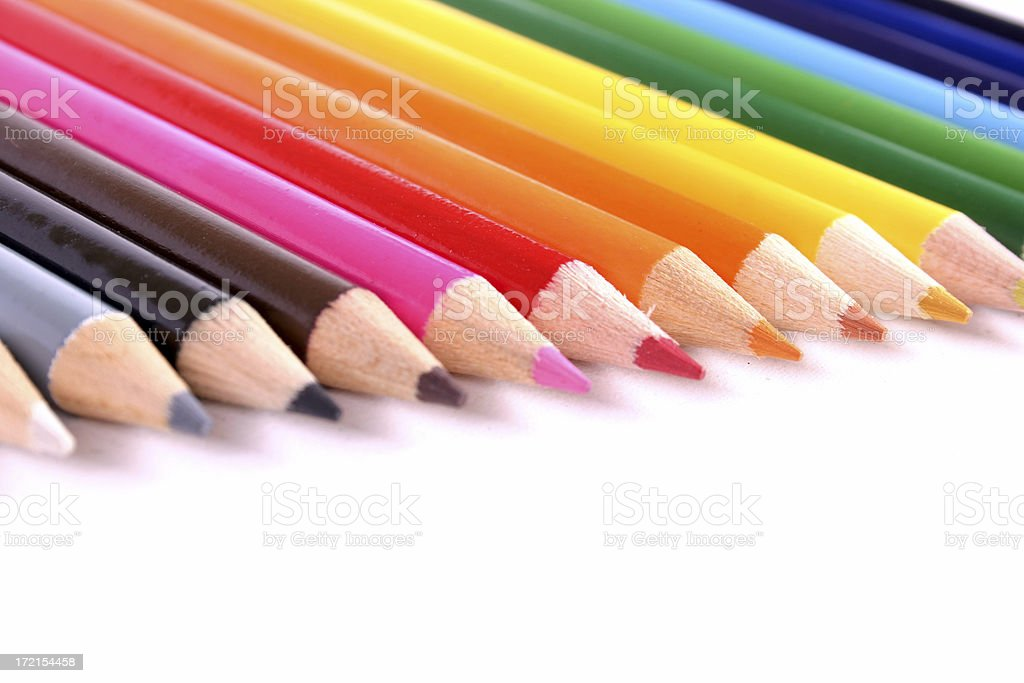 Colour Pencils 02 royalty-free stock photo