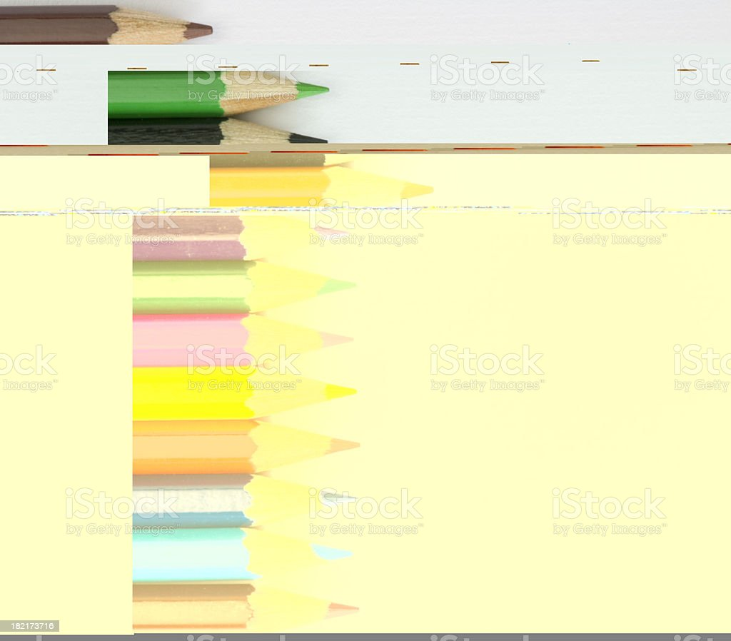 Colour pencils royalty-free stock photo