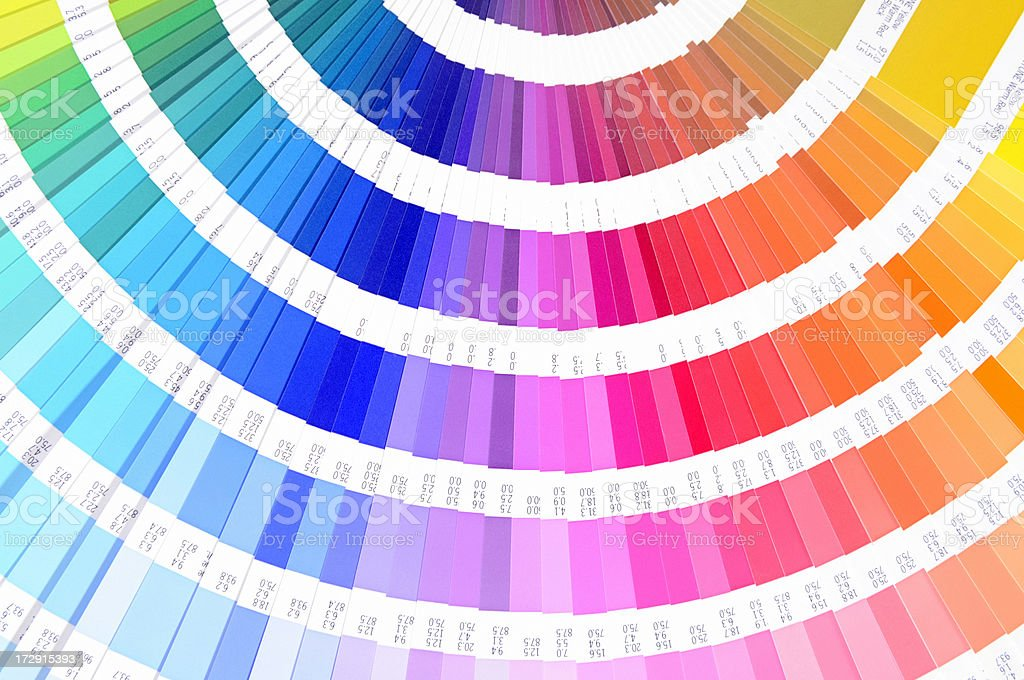 Colour Proof, CMYK/ Pantone System Guide royalty-free stock photo