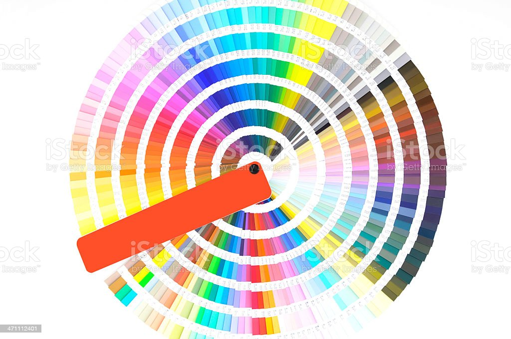Colour Sampler royalty-free stock photo