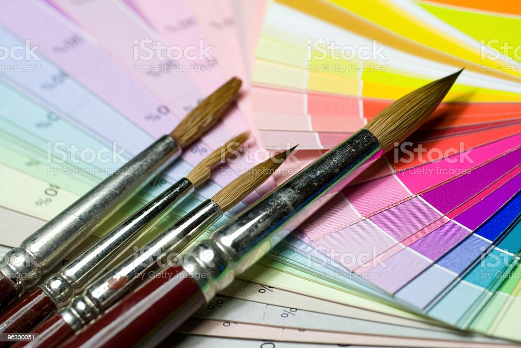 Colour scale and brushes royalty-free stock photo