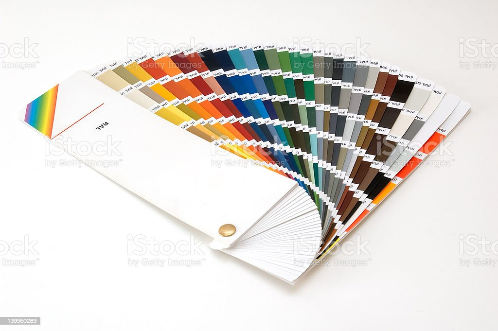 RAL colour scale stock photo